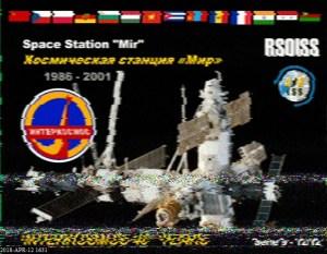 Cosmonautics Day Event -  ARISS SSTV Image 12 of 12
