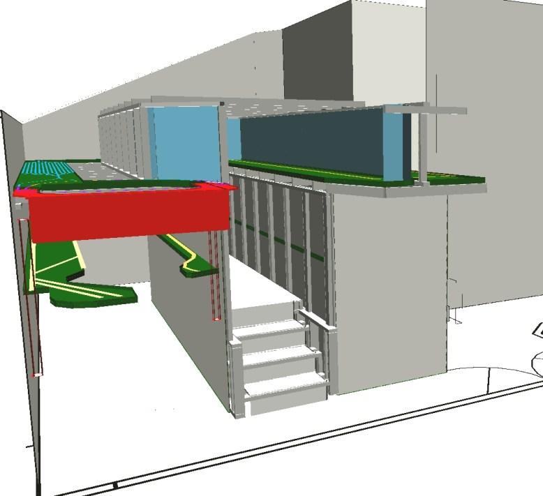 3D front view