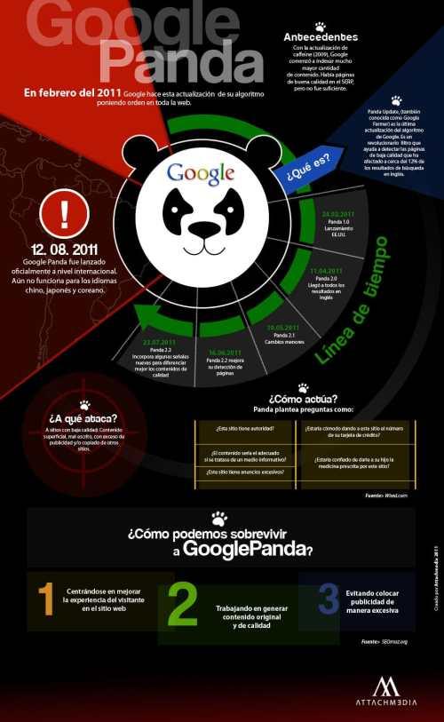 Google Panda, nuevo algoritmo de resultados de Google. Revolución SEO para aparecer el primero en Google, cómo posicionar una web con Google Panda