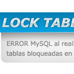 Error MySQL: LOCK TABLES WRITE al configurar Joomla 1.6