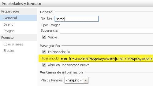 MicroStrategy URL API: especificar un panel de un panelstack