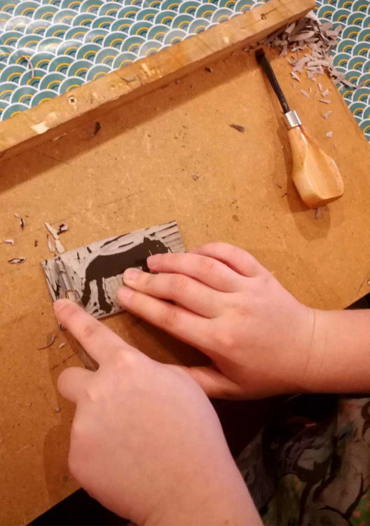 atelier gravure sur lino