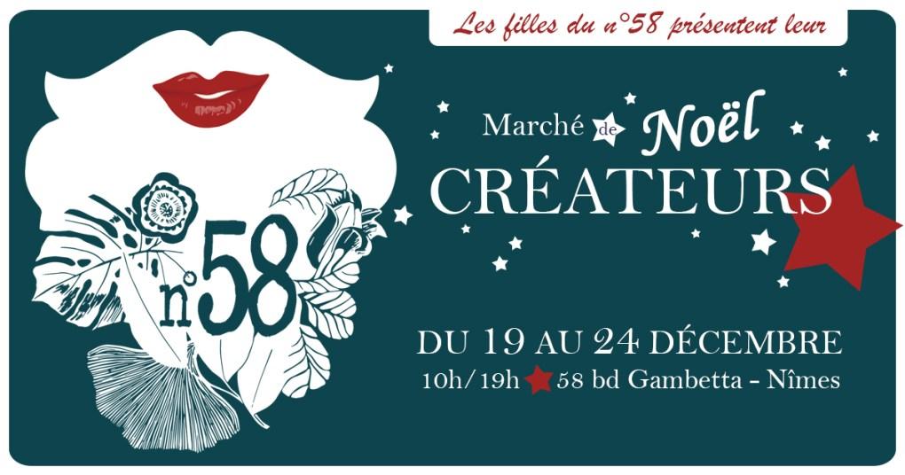 marché de Noël des créateurs du 19 au 24 décembre 10h/19h