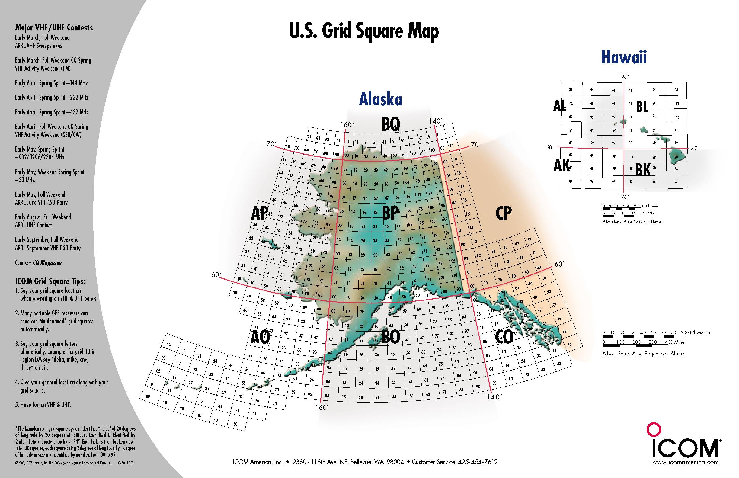 Grid Square Map