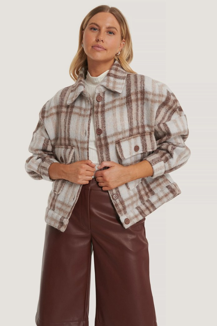 Checked Checkered Jacket In Wool Blend