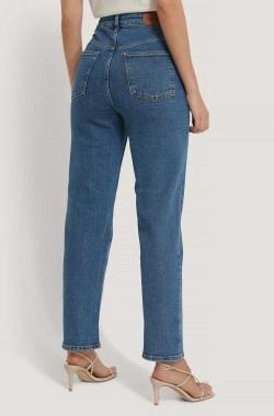 Denim-Jeans Mit Geradem Bein Mid Blue