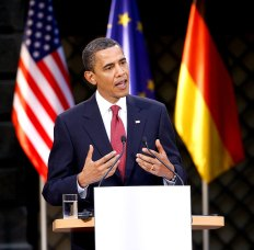 Barack Obama in Dresden, Deutschland
