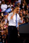 Barack Obama 2012 während seines zweiten Präsidentschaftswahlkampfs