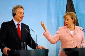 Angela Merkel mit Tony Blair