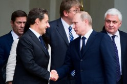 Wladimir Putin und Nicolas Sarkozy und Wladimir Putin
