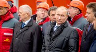 Wladimir Putin in Novosibirsk