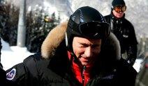 Wladimir Putin beim Skifahren