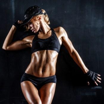 Sexy Girl hat trainiert