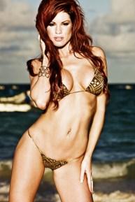 Heißer Feger im Bikini
