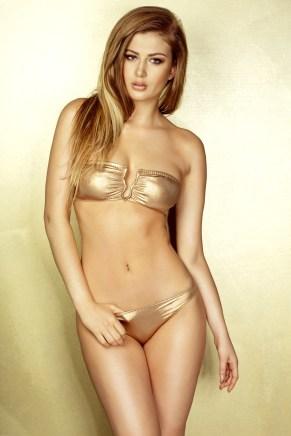 Sexy goldenes Girl