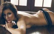 Sexy Girl lauer auf dem Boden