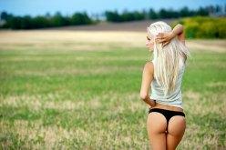Scharfe Blondine