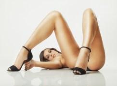 Sexy Girl mit langen Beinen