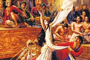 Draupadi disrobed in the Mahabharat