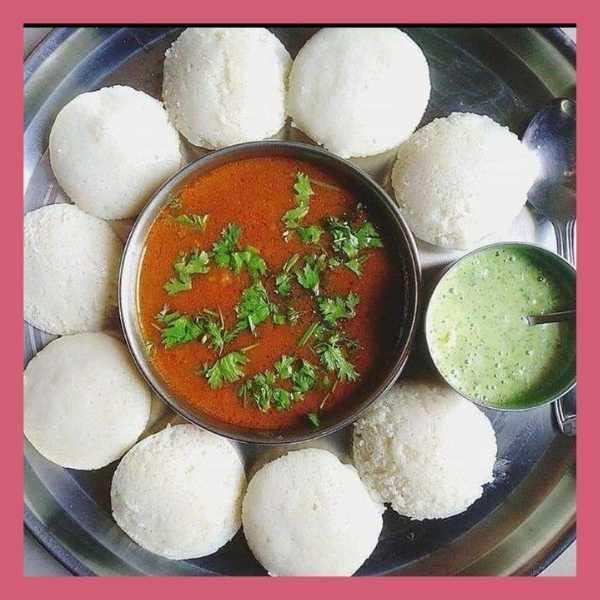 tricolour food arrangement