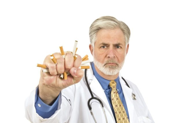 Doctor Crushing Cigarettes