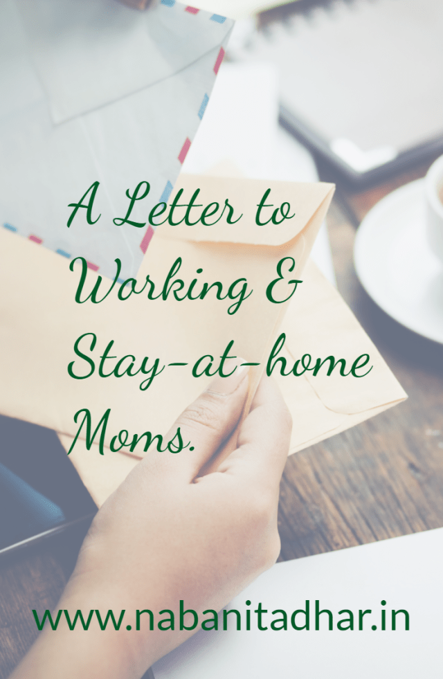 Why working and stay-at-home moms must work together and stand for each other. Fellow Moms, this letter is to you. #momsofgirls #momsofboys #mothers #momlife #mothersday