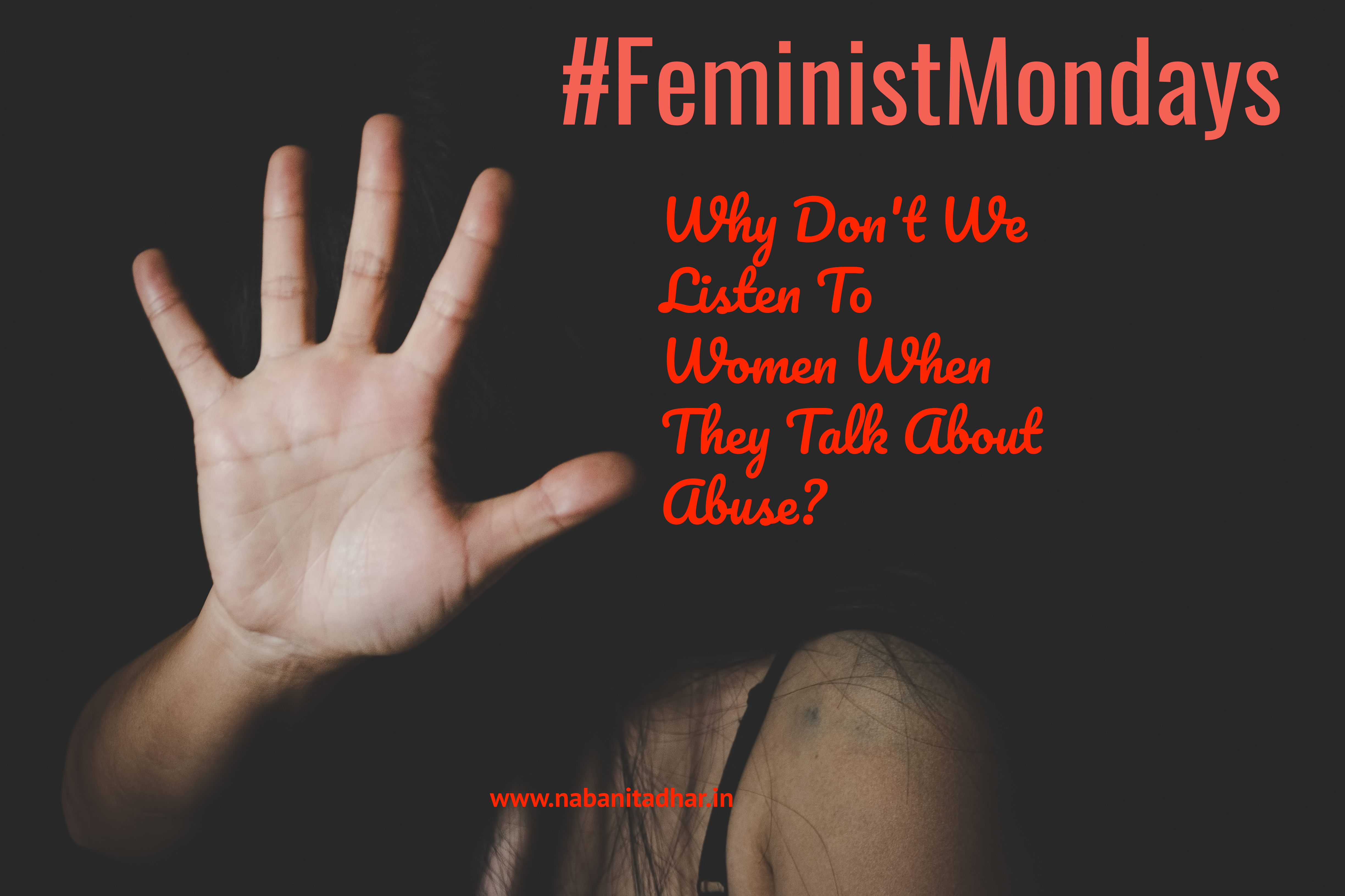 Why don't we listen to women when they talk about abuse? This post is where I think about how unfair it is to shut women up when they try to talk.