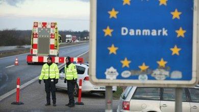 صورة محاولة ألمان دخول الدنمارك اليوم والشرطة الدنماركية تمنعهم