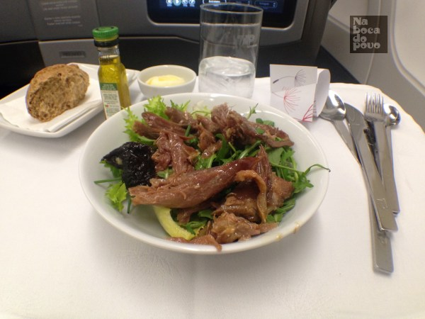 Business Class Tap Portugal antipasto