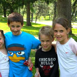 Four kids at park
