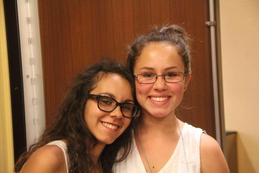 two teenaged girls