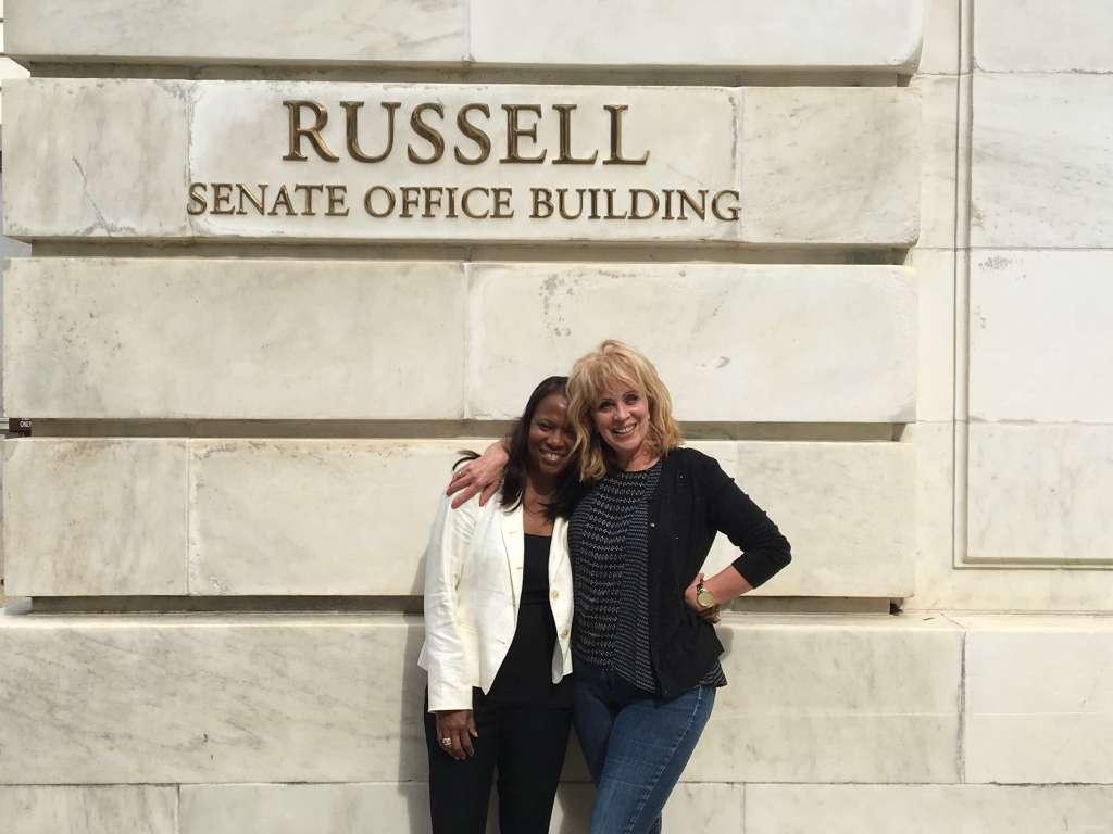 parent advocates at Senate building