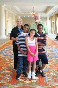 grandparents and three kids