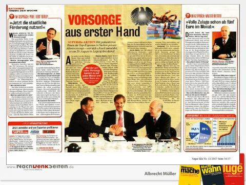 Riester-Rente, Carsten Maschmeyer, Riester und Rürup