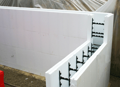 Insulated concrete form