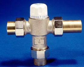 Anti-scald valves are used to regulate water temperature in buildings