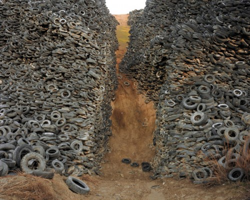 Tire landfill; photo courtesty of Electronic Recyclers International