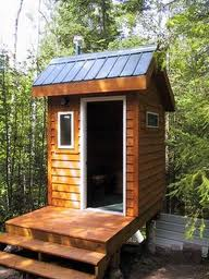 Outdoor composting toilet