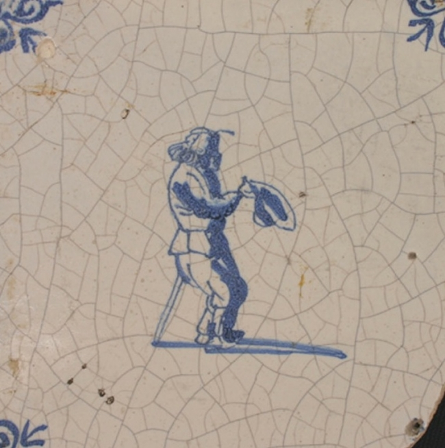 This historic tile is thoroughly crazed