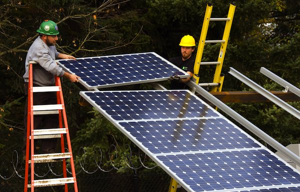 Solar gardens, such as this one, may soon allow renters and homeowners who live in the shade to produce solar energy