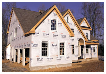 Tyvek® housewrap is used as a moisture and vapor barrier