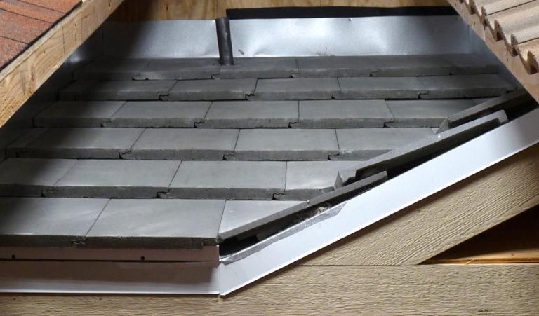 flat concrete tile roof inspection