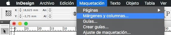 Márgenes internos en InDesign