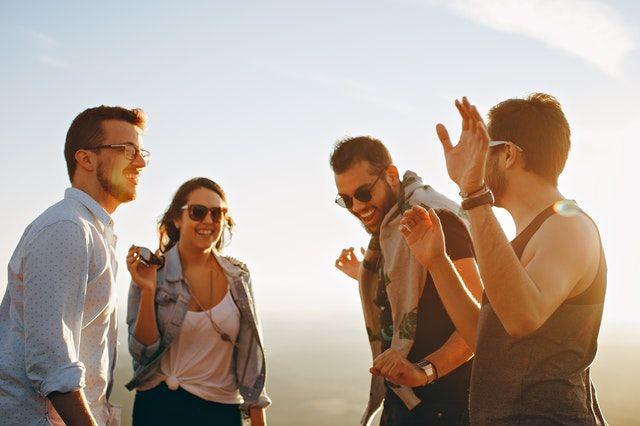 Disfrutar tu tiempo libre con amigos