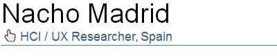 Nacho Madrid, HCI / UX researcher