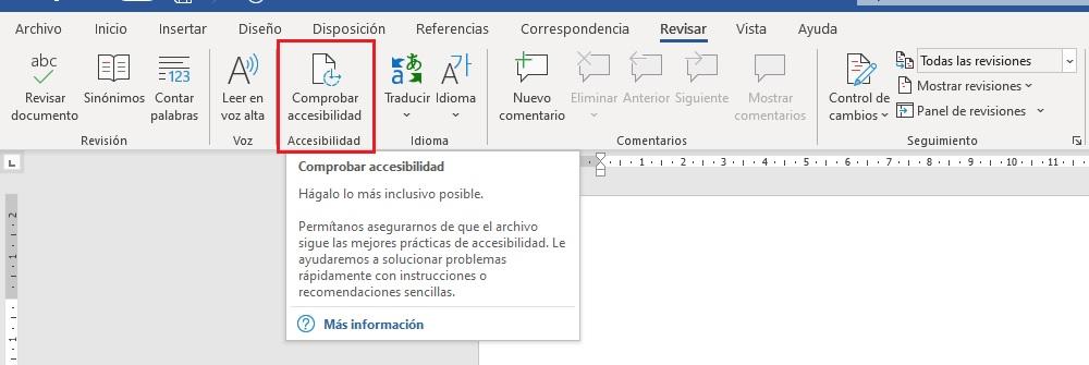 Comprobador de accesibilidad de microsoft office 265