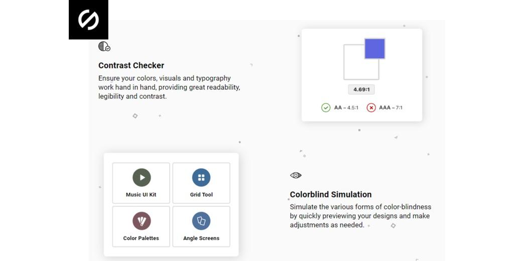 Ejemplo de funcionalidad que ofrece Stark para comprobar el ratio de contraste.