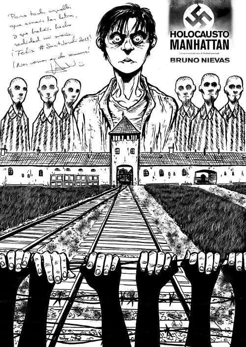 Ilustración hecha por Jose Angel Ares para Bruno Nievas pro su Holocausto Manhattan
