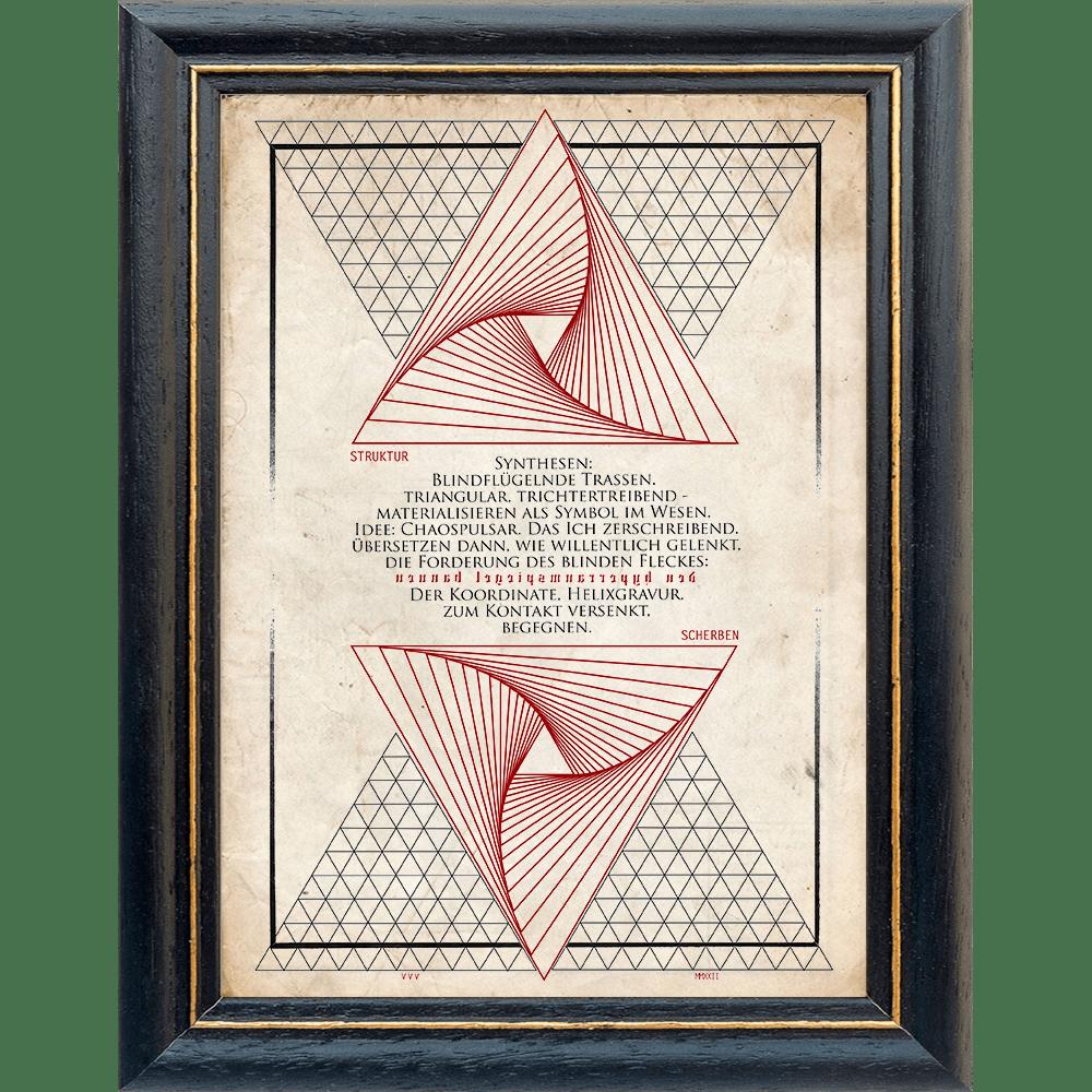 Nachtgnosis ORATIO Series - Strukturscherben - Artprint Kunstdruck Wandschmuck A4 - Rahmen Precatio - Papier Vintage