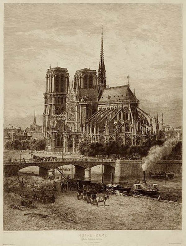 Notre Dame at the end of the 19th century.